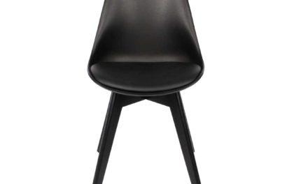 Mia spisebordsstol, sort/sort