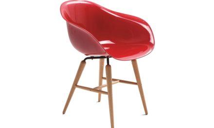Forum spisestol med armlæn – Rød