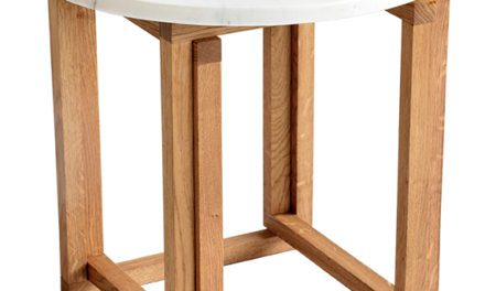 Accent marmor sofabord, Ø50