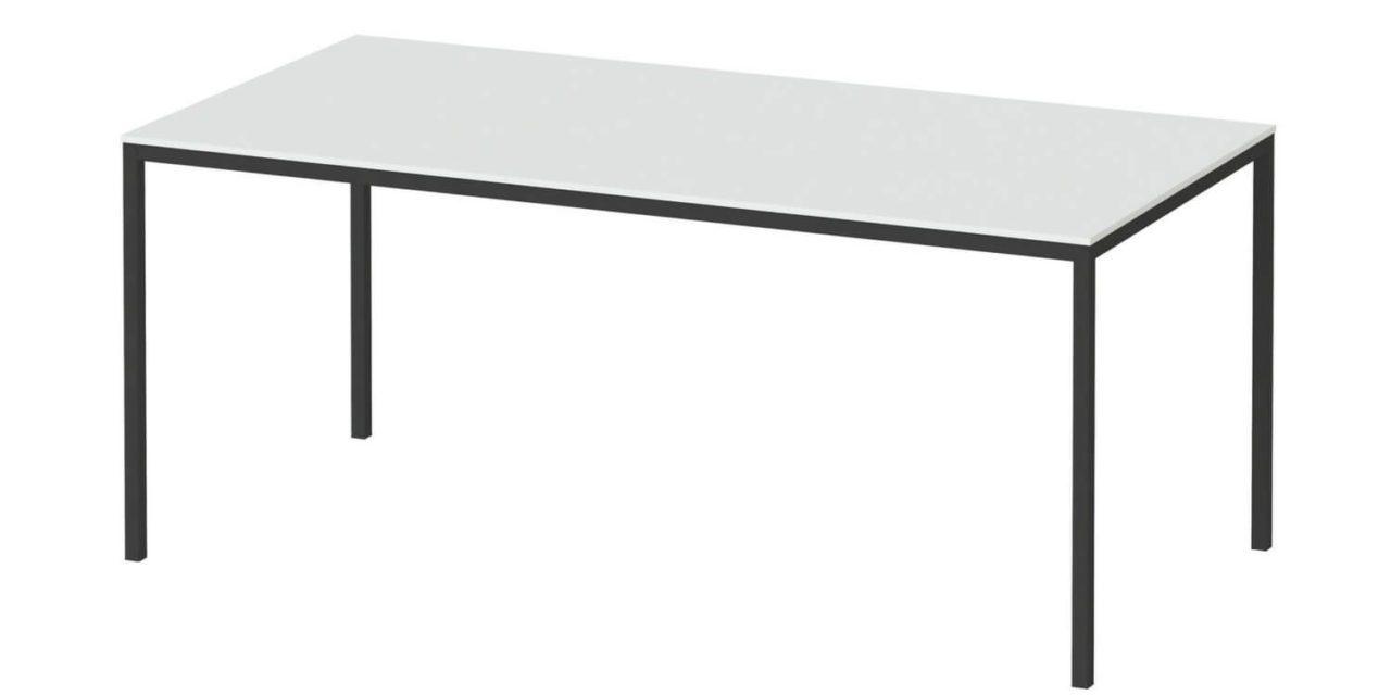 Family spisebord hvid/sort træ