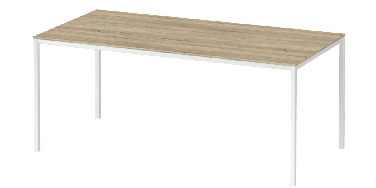 Family spisebord eg/hvid træ