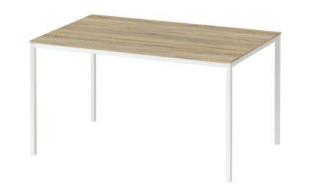 Family spisebord i eg/hvid træ – 140×90