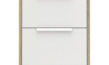 Line Natbord m. 2 skuffer – eg/hvid