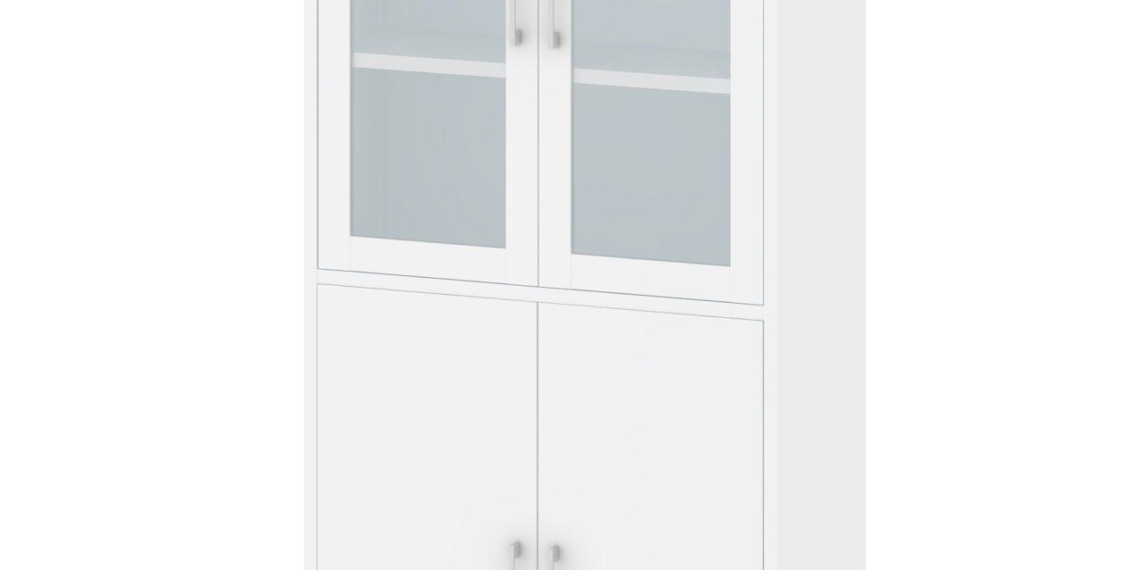 Prima vitrineskab/reol – Hvid