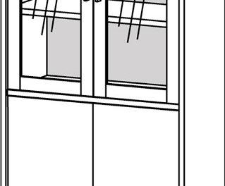 Prima vitrineskab/reol – Eg