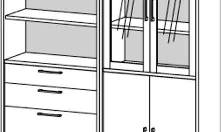 Prima kontorreol – Hvid