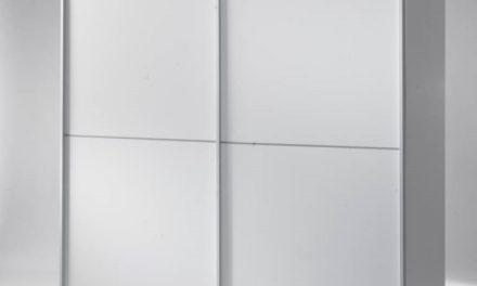 Verona skydedørsskab i hvid