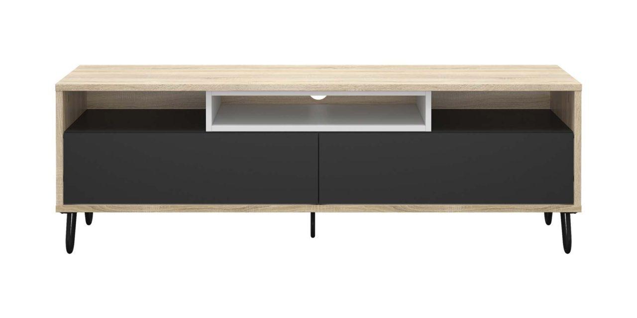 Match TV-bord – Eg/Koksgrå/Hvid
