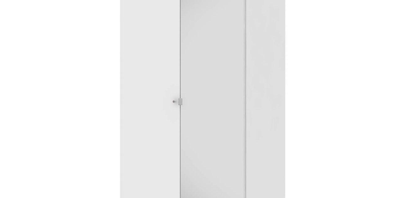 Save garderobeskab (100 cm) i hvid med spejl