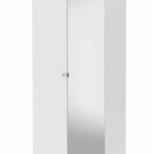 Save garderobeskab (100 cm) med spejllåge