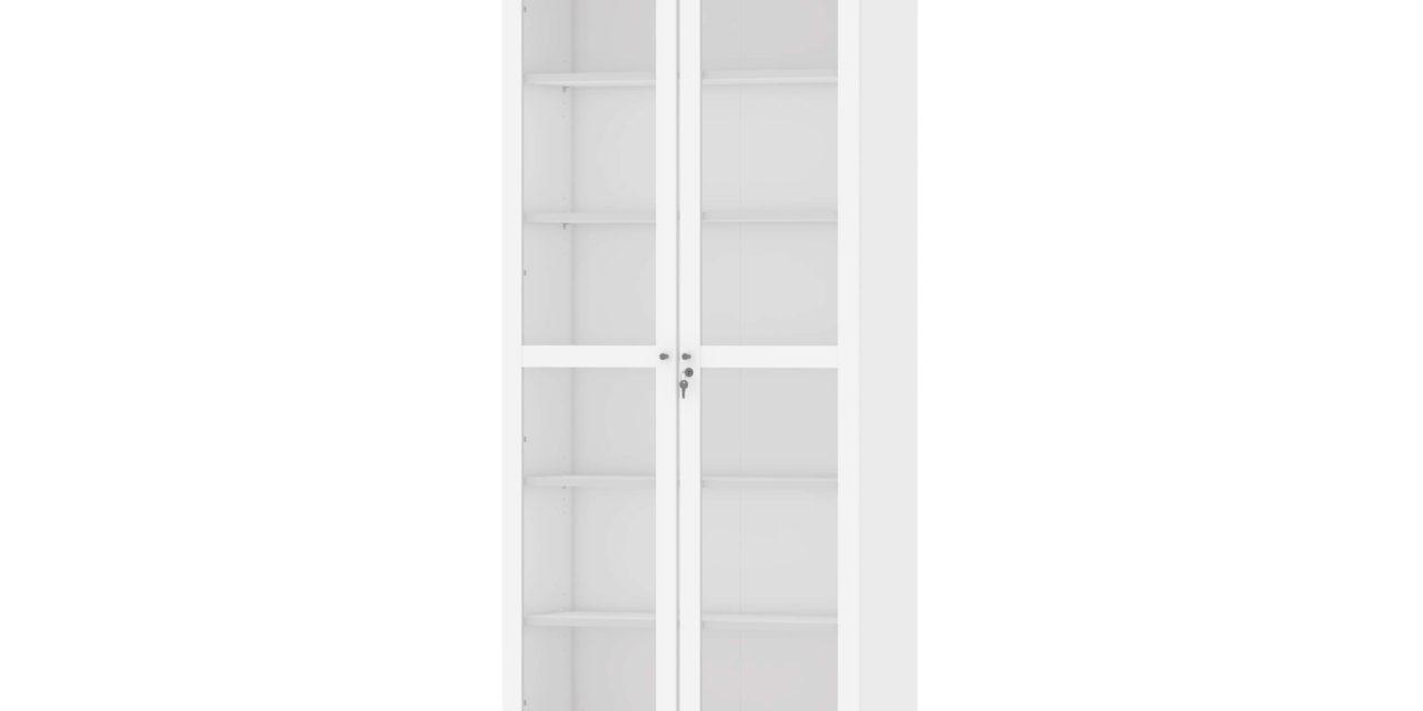 Roomers vitrineskab – Hvid m. Eg
