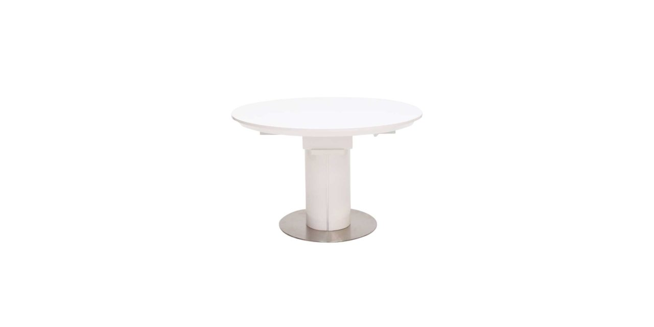 Bling spisebord – hvid højglans m. butterflyplade