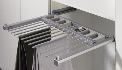 DecoSlide bukseholder med udtræk og softluk i flot metal