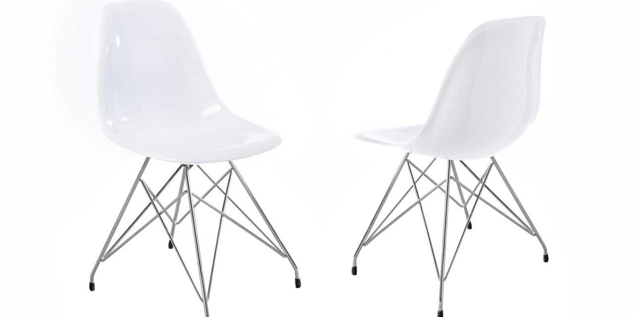 Crystal stol i hvid