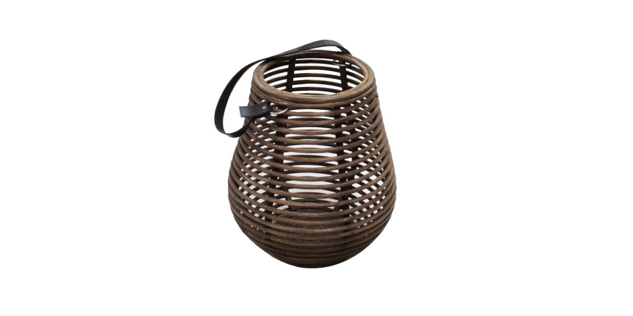 Curve lanterne i mørkebrun (40 cm)