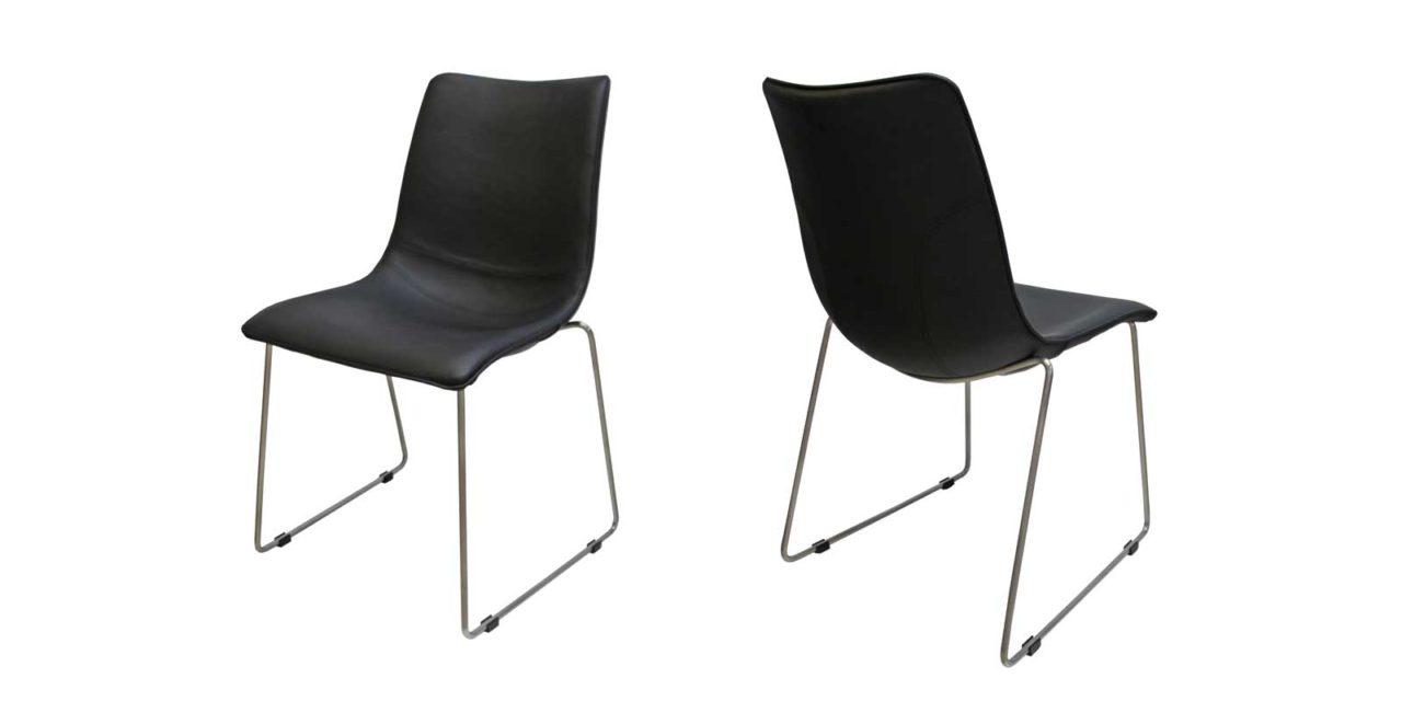 Delta stol i sort