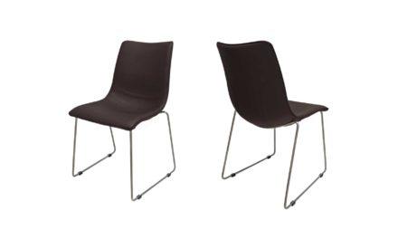 Delta stol i mørkebrun