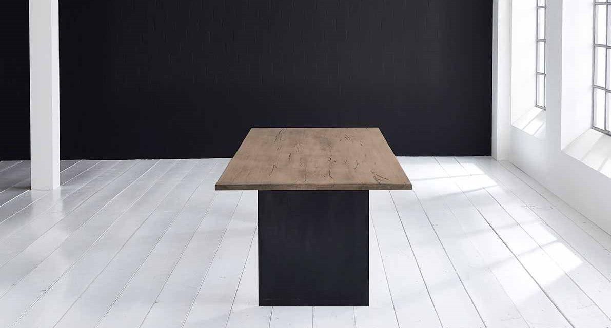 Concept 4 You Plankebord – Lige kant med T-ben, m. udtræk 3 cm 240 x 100 cm 02 = smoked