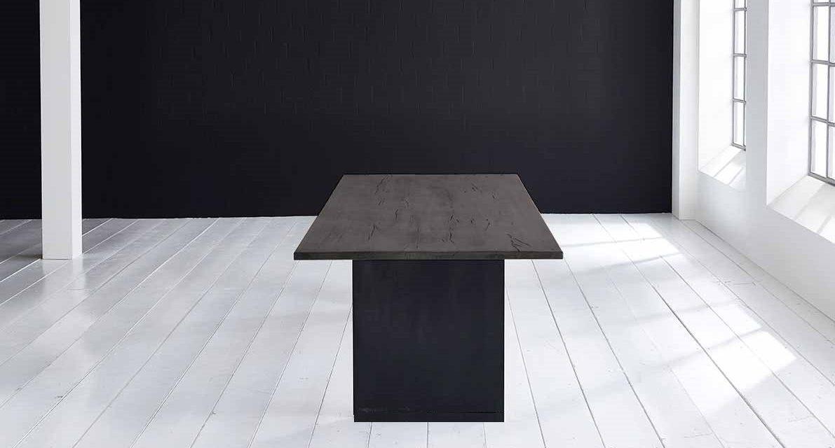 Concept 4 You Plankebord – Lige kant med T-ben, m. udtræk 3 cm 180 x 100 cm 07 = mocca black