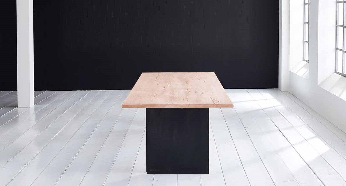 Concept 4 You Plankebord – Lige kant med T-ben, m. udtræk 3 cm 180 x 100 cm 03 = white wash