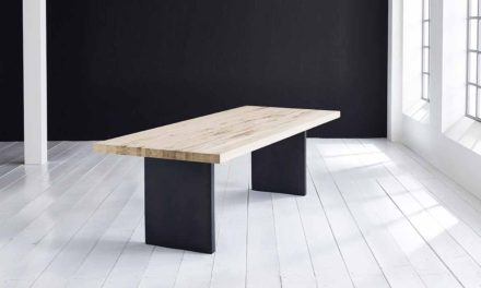 Concept 4 You Plankebord – Lige kant med T-ben, m. udtræk 6 cm 200 x 110 cm 04 = desert
