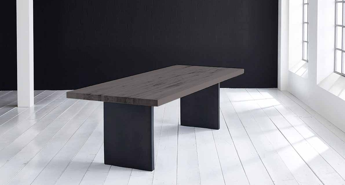 Concept 4 You Plankebord – Lige kant med T-ben, m. udtræk 6 cm 300 x 100 cm 07 = mocca black