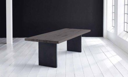 Concept 4 You Plankebord – Lige kant med T-ben, m. udtræk 6 cm 180 x 110 cm 07 = mocca black