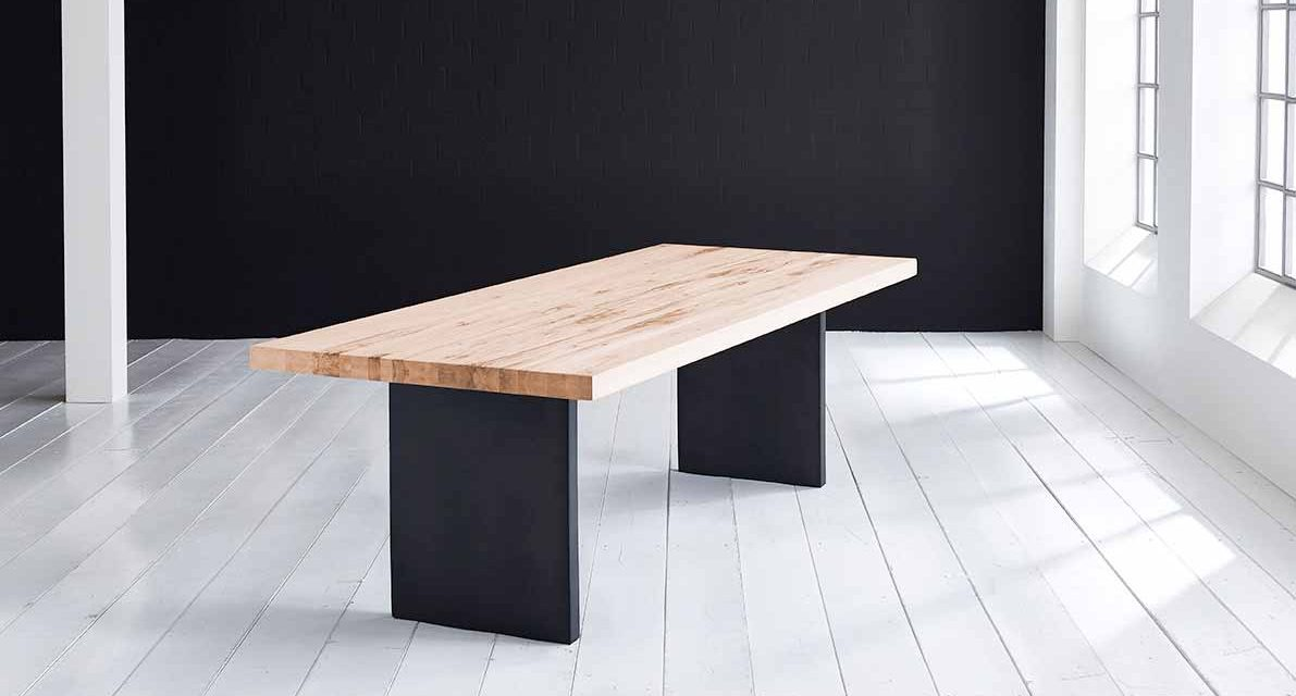 Concept 4 You Plankebord – Lige kant med T-ben, m. udtræk 6 cm 300 x 110 cm. 01 = olie