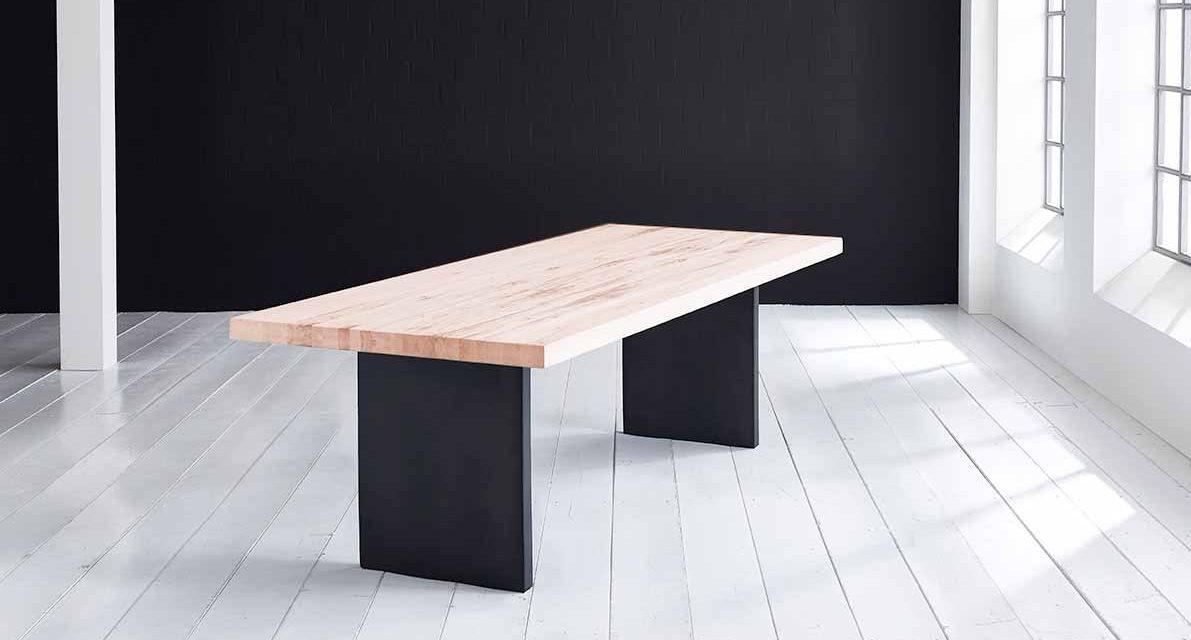Concept 4 You Plankebord – Lige kant med T-ben, m. udtræk 6 cm 300 x 100 cm 03 = white wash