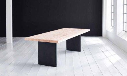 Concept 4 You Plankebord – Lige kant med T-ben, m. udtræk 6 cm 200 x 110 cm 03 = white wash