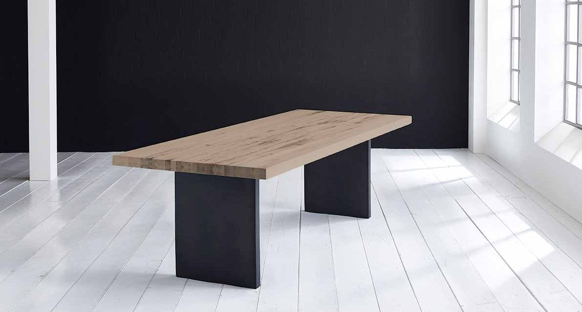Concept 4 You Plankebord – Lige kant med T-ben, m. udtræk 6 cm 300 x 100 cm 02 = smoked