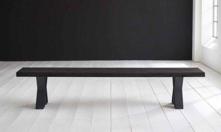 Concept 4 You Spisebordsbænk – X-ben 300 x 40 cm 6 cm 07 = mocca black