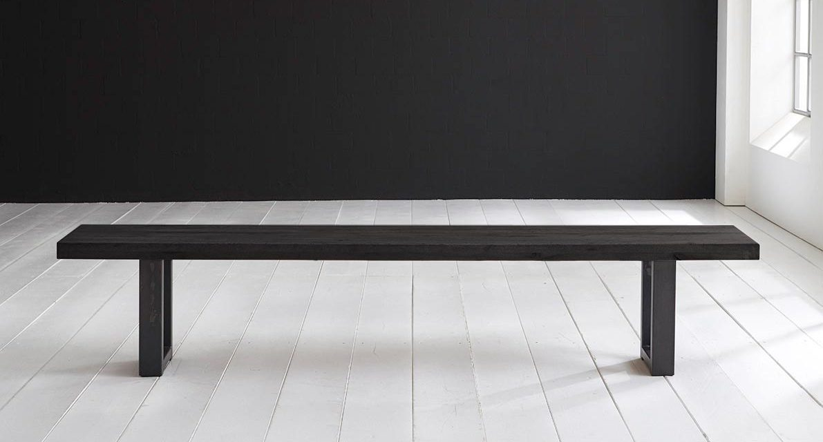 Concept 4 You Spisebordsbænk – Manhattan ben 280 x 40 cm 6 cm 07 = mocca black