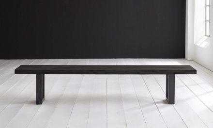 Concept 4 You Spisebordsbænk – Manhattan ben 220 x 40 cm 6 cm 07 = mocca black