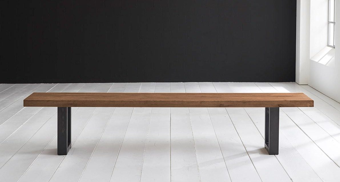 Concept 4 You Spisebordsbænk – Manhattan ben 200 x 40 cm 6 cm 01 = olie