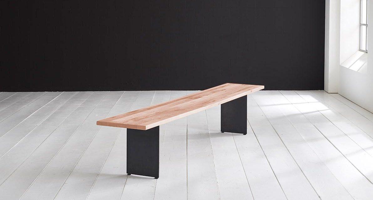 Concept 4 You Spisebordsbænk – Line Ben 220 x 40 cm 3 cm 03 = white wash
