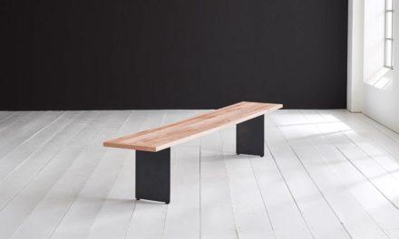 Concept 4 You Spisebordsbænk – Line Ben 240 x 40 cm 3 cm 03 = white wash