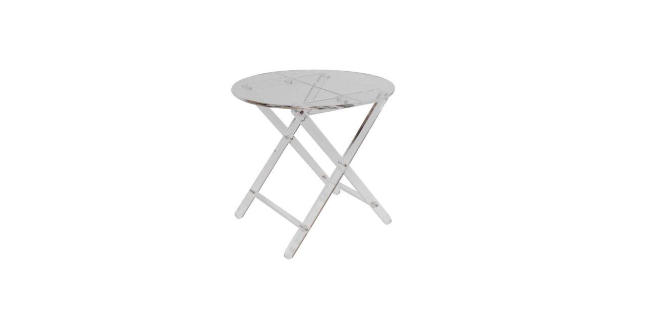 Nydeligt Misty småbord i gennemsigtig plastik fra Canett
