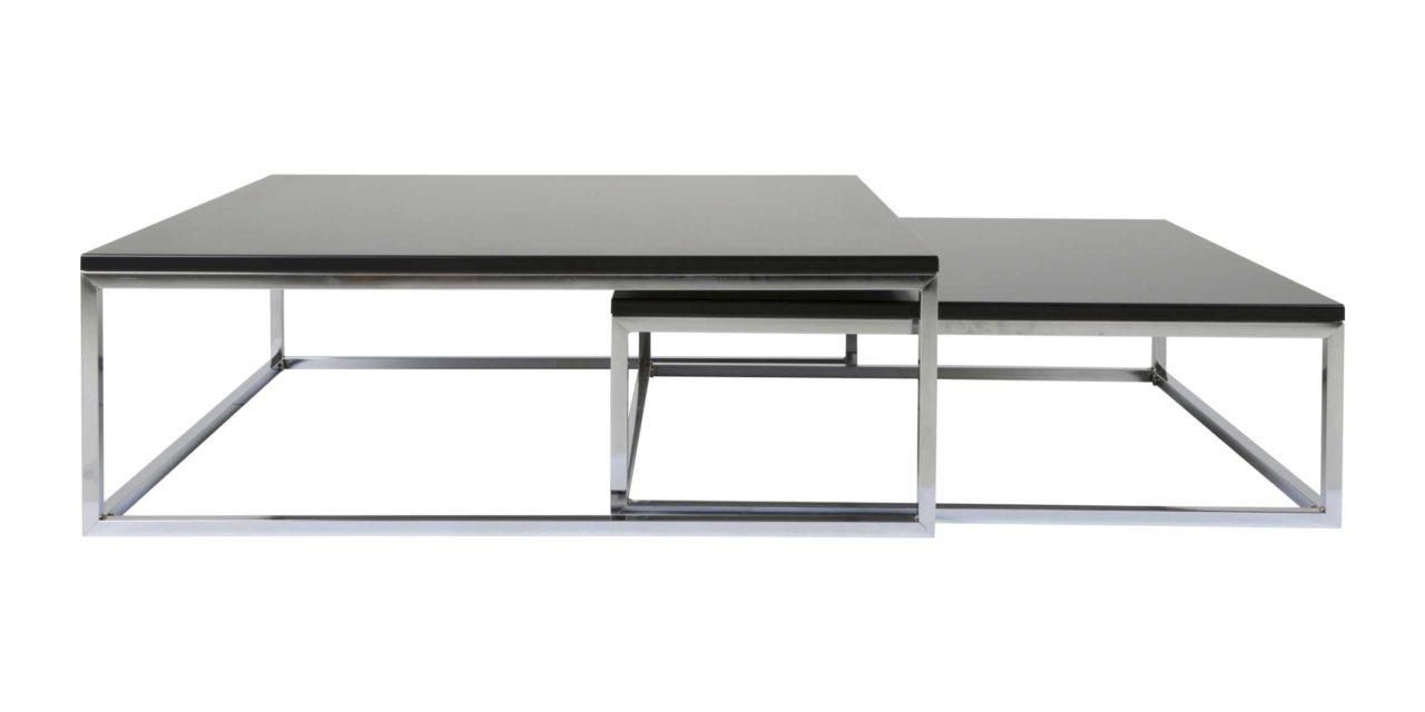 Molly sofabordssæt – sort med sølvben