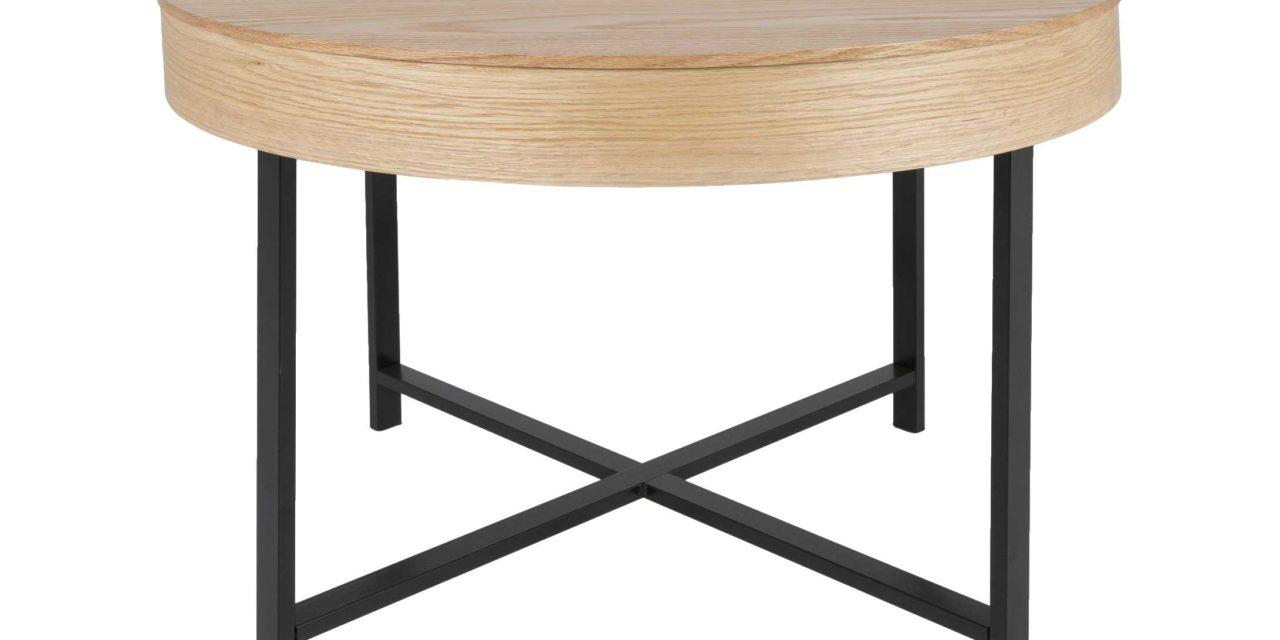 Molly sofabord – træ med sort stel