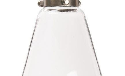 IB LAURSEN Hængelampe dråbeformet klar glas inkl. loftroset