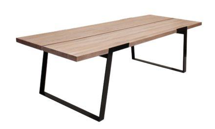Zilas plankebord – hvidolieret vildeg, m. udtræk (290×100)