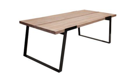 Zilas plankebord – hvidolieret vildeg, m. udtræk (240×100)