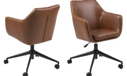 Nora Vintage læder PU skrivebordsstol