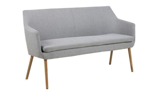 Nora Grå stof sofabænk