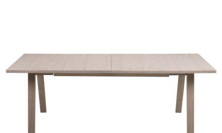 A-Line spisebord – hvidpigmenteret eg, incl. 2 tillægsplader