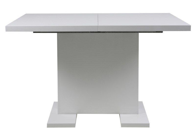 Gust spisebord – hvid højglans, incl. 1 tillægsplade