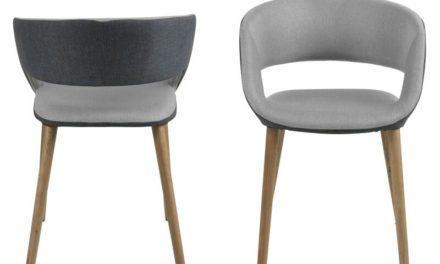 Grace spisebordsstol – Lysegrå/mørkegrå