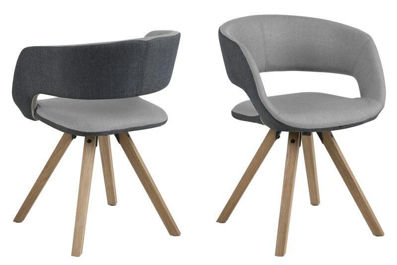 Grace spisebordsstol Mørk/lys grå