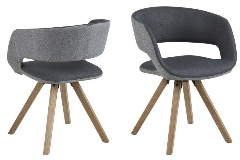 Grace spisebordsstol Lys/mørk grå